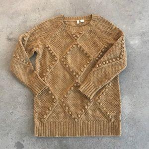 Tunic length wool sweater